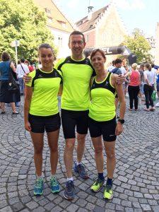 von links Sabrina Gentner, Norbert Eisele, Elisa Eisele